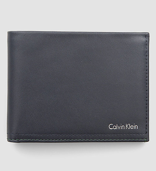 CALVINKLEIN Leather Wallet - NAVY - CALVIN KLEIN WALLETS - main image