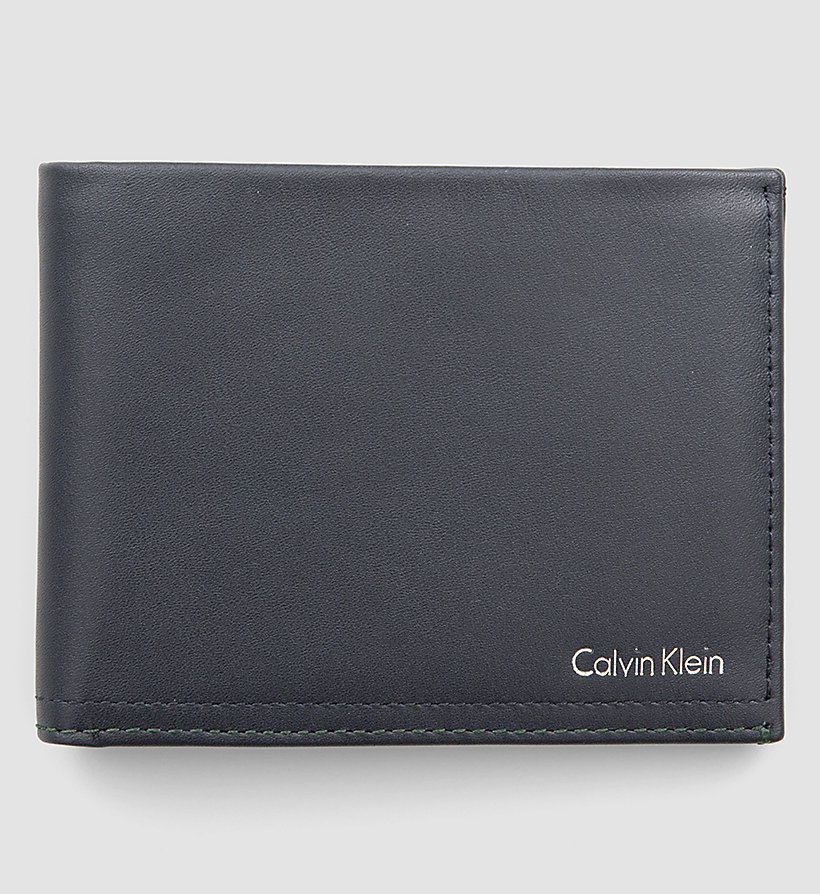 CALVINKLEIN Leather Wallet - NAVY - CALVIN KLEIN SHOES & ACCESSORIES - main image
