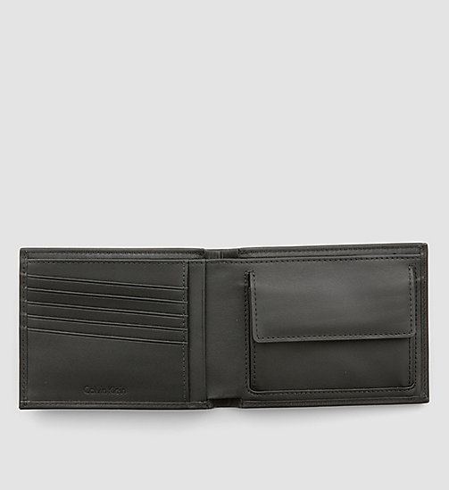 CALVINKLEIN Leather Wallet - BLACK - CALVIN KLEIN CARRIED AWAY - detail image 1