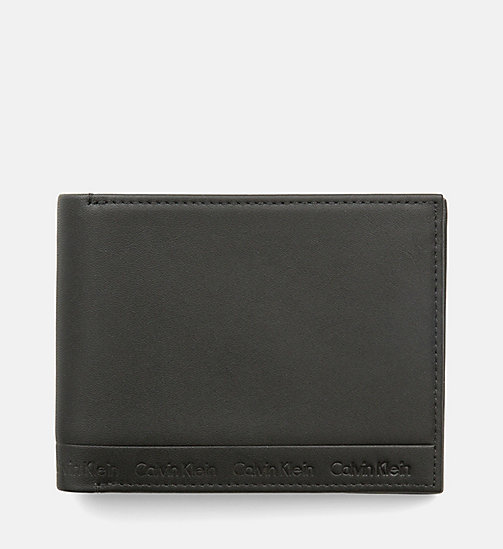 CALVINKLEIN Leather Wallet - BLACK - CALVIN KLEIN  - main image