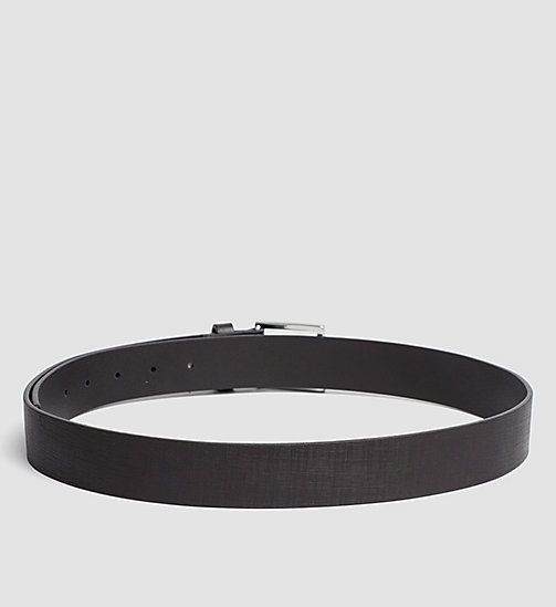 CALVINKLEIN Textured Leather Belt - BLACK - CALVIN KLEIN BELTS - detail image 1