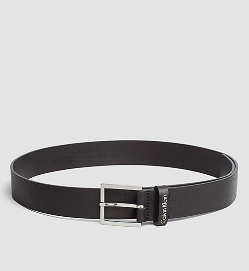 CALVINKLEIN Textured Leather Belt - BLACK - CALVIN KLEIN BELTS - main image