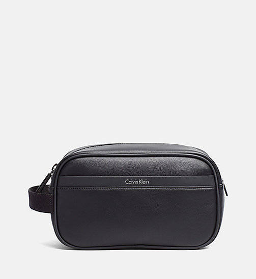 Wash Bag - BLACK - CALVIN KLEIN SHOES & ACCESSORIES - main image