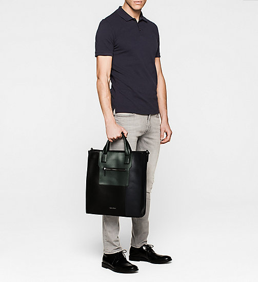 Tote Bag - BLACK/NAVY/SYCAMORE - CALVIN KLEIN  - detail image 1