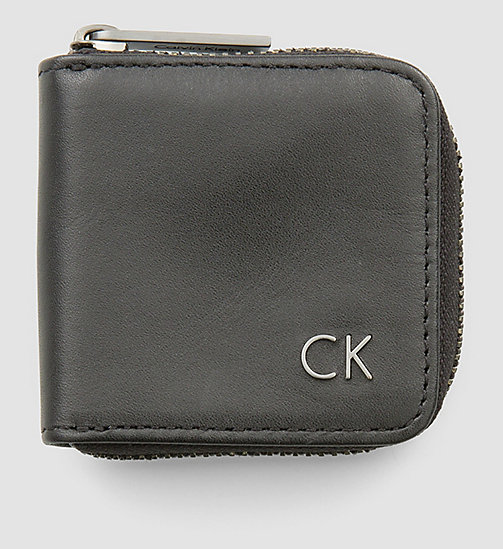 CALVINKLEIN Leather Earphone Pouch - BLACK - CALVIN KLEIN SMALL ACCESSORIES - main image