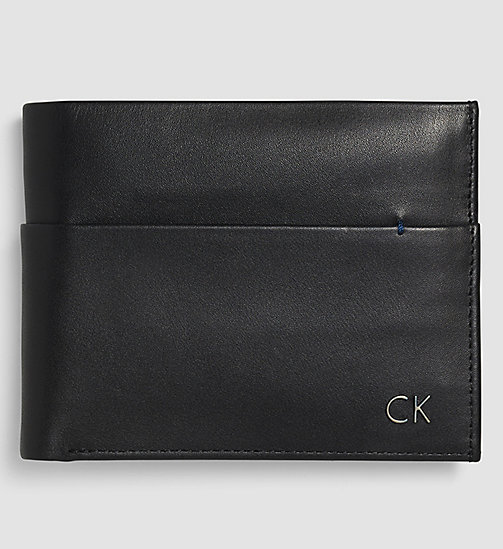 CALVINKLEIN Leather Wallet - BLACK - CALVIN KLEIN SMALL ACCESSORIES - main image
