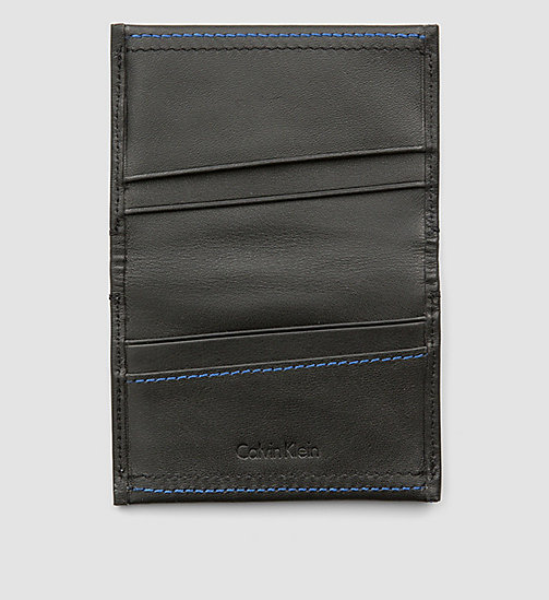 CALVINKLEIN Leather Cardholder - BLACK - CALVIN KLEIN SMALL ACCESSORIES - detail image 1