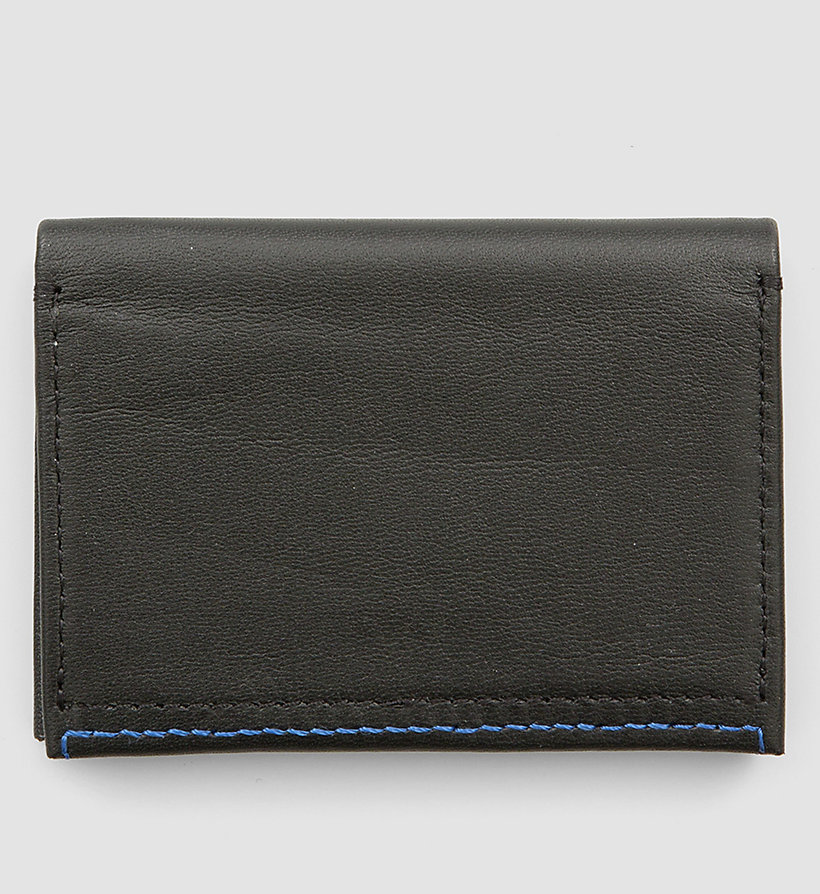 CALVINKLEIN Leather Cardholder - BLACK - CALVIN KLEIN SHOES & ACCESSORIES - detail image 2