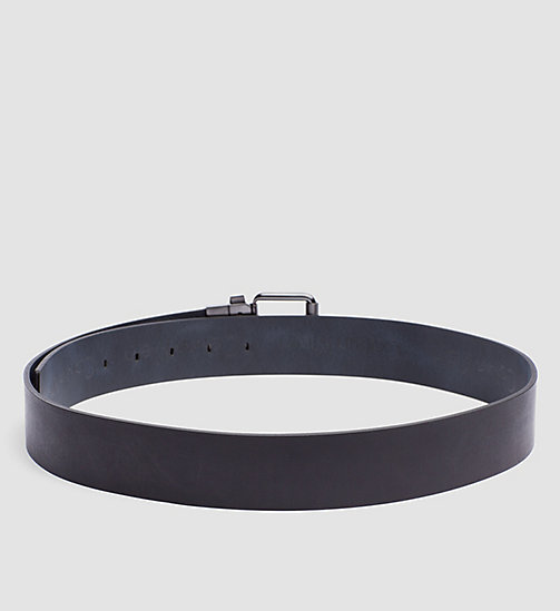 CALVINKLEIN Leather Reversible Logo Belt - BLACK/NAVY - CALVIN KLEIN BELTS - detail image 1
