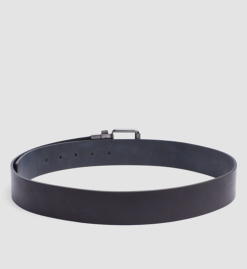 CALVINKLEIN Leather Reversible Logo Belt - BLACK/NAVY - CALVIN KLEIN SHOES & ACCESSORIES - detail image 1