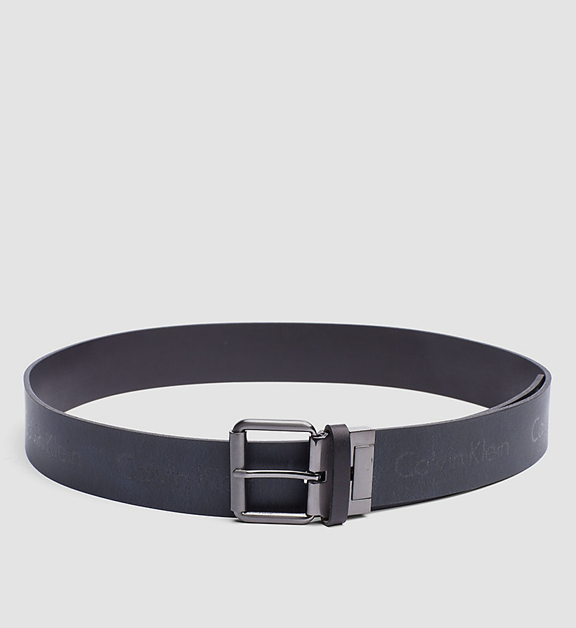 CALVINKLEIN Leather Reversible Logo Belt - BLACK/NAVY - CALVIN KLEIN SHOES & ACCESSORIES - detail image 2