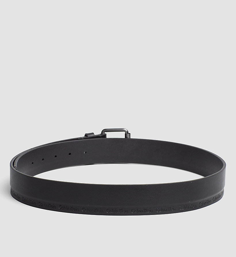CALVINKLEIN Leather Roller Buckle Belt - BLACK - CALVIN KLEIN SHOES & ACCESSORIES - detail image 1