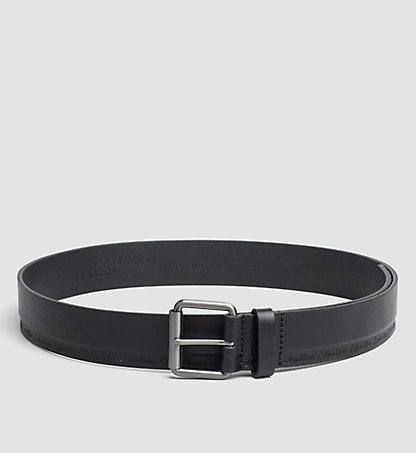 CALVIN KLEIN Leather Roller Buckle Belt K50K502473001