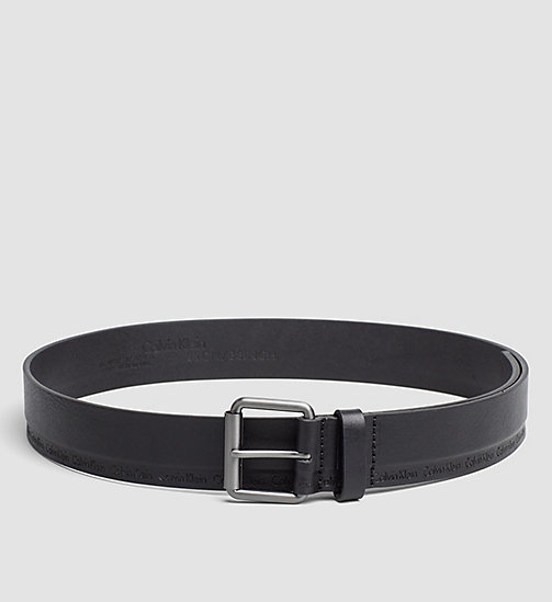 CALVINKLEIN Leather Roller Buckle Belt - BLACK - CALVIN KLEIN BELTS - main image