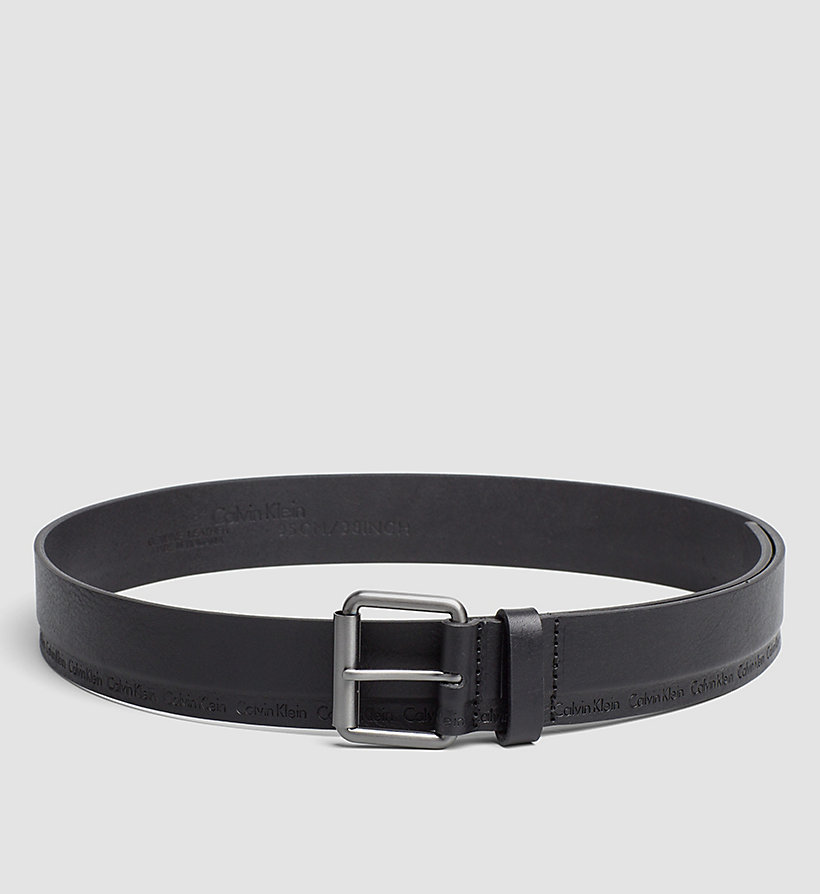 CALVINKLEIN Leather Roller Buckle Belt - BLACK - CALVIN KLEIN SHOES & ACCESSORIES - main image