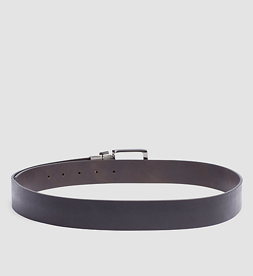 Leather Reversible Belt - BLACK/BROWN - CALVIN KLEIN  - detail image 1