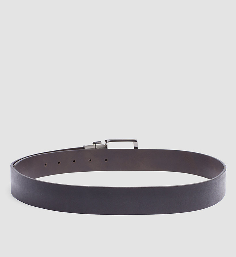 CALVINKLEIN Leather Reversible Belt - BLACK/BROWN - CALVIN KLEIN SHOES & ACCESSORIES - detail image 1
