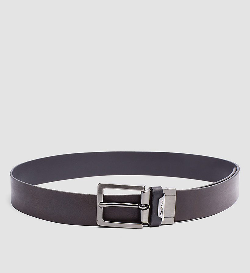 CALVINKLEIN Leather Reversible Belt - BLACK/BROWN - CALVIN KLEIN SHOES & ACCESSORIES - detail image 2