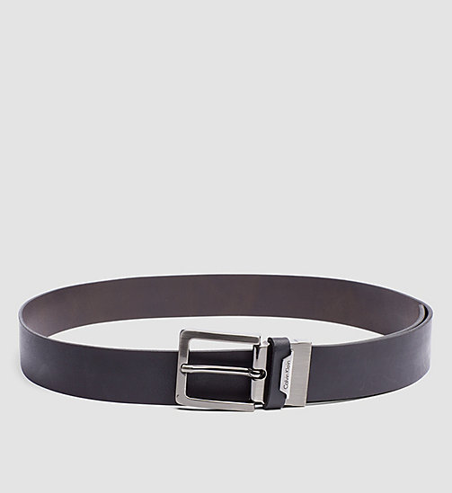 CALVINKLEIN Leather Reversible Belt - BLACK/BROWN - CALVIN KLEIN BELTS - main image