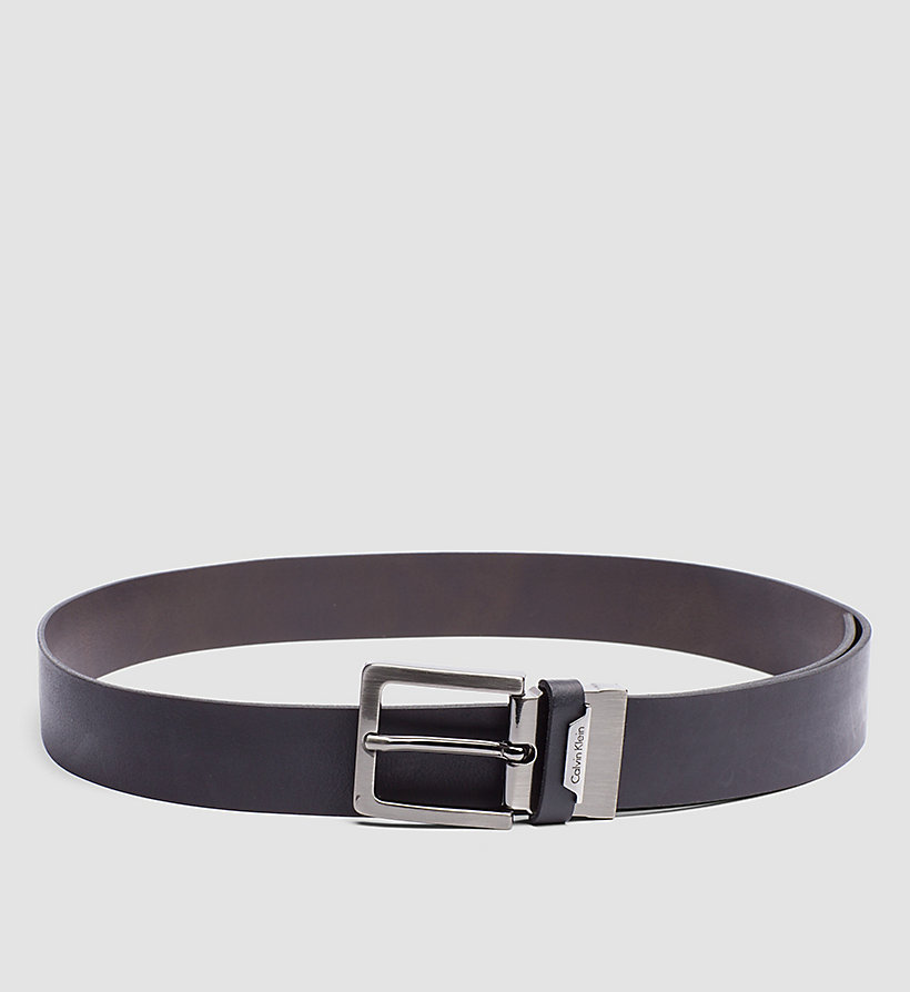 CALVINKLEIN Leather Reversible Belt - BLACK/BROWN - CALVIN KLEIN SHOES & ACCESSORIES - main image