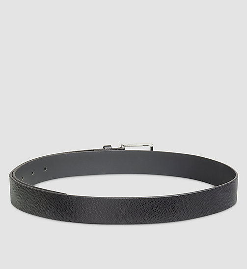 Fine-Textured Leather Belt - BLACK - CALVIN KLEIN  - detail image 1