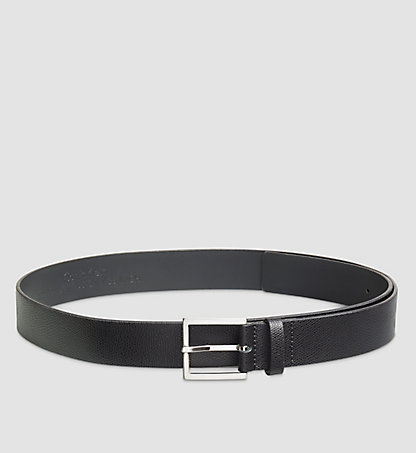 CALVIN KLEIN Fine-Textured Leather Belt K50K502529001