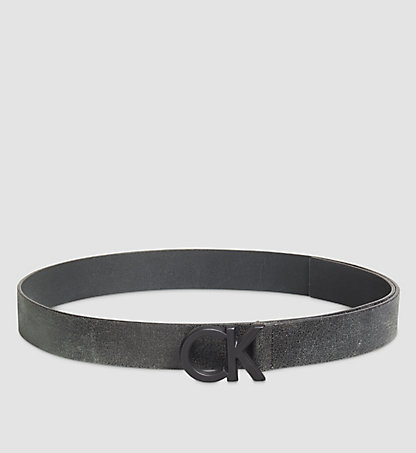CALVIN KLEIN Crackle Leather CK Buckle Belt K50K502530001