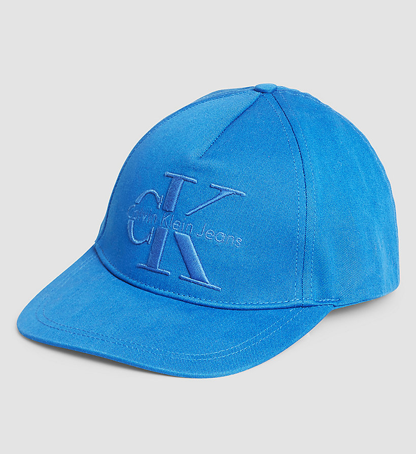 CKJEANS Embroidered Logo Cap - DAZZLING BLUE - CK JEANS SHOES & ACCESSORIES - main image