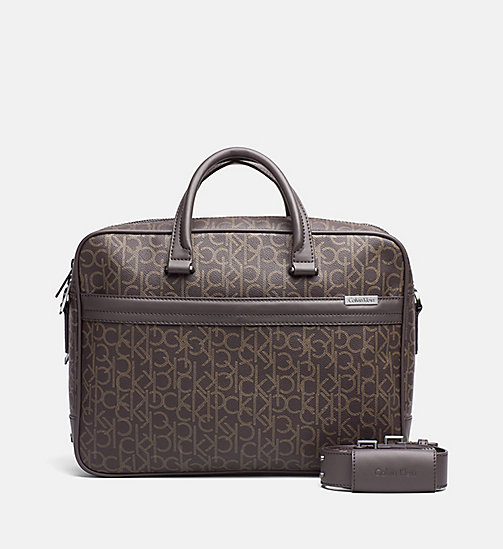Logo Laptop Bag - BROWN MONOGRAM - CALVIN KLEIN SHOES & ACCESSORIES - main image