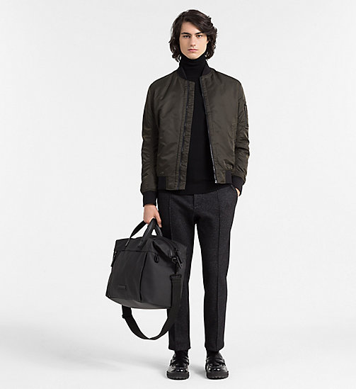 CALVINKLEIN Sac weekender en toile enduite - BLACK - CALVIN KLEIN CARRIED AWAY - image détaillée 1