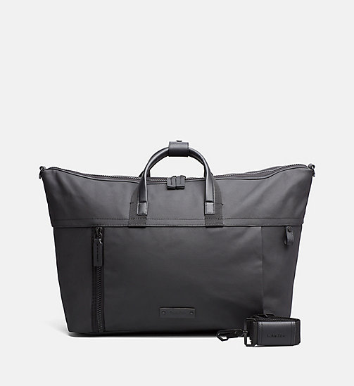 Coated Canvas Weekender Bag - BLACK - CALVIN KLEIN SHOES & ACCESSORIES - main image