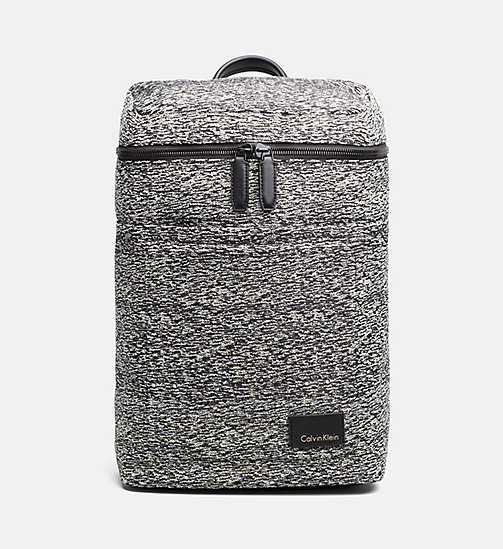 CALVINKLEIN Jacquard Backpack - BLACK/DUSTY IVORY - CALVIN KLEIN CARRIED AWAY - main image