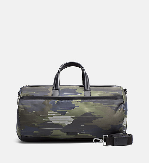 CALVINKLEIN Camo Jacquard Duffle Bag - SPEED CAMO - CALVIN KLEIN CARRIED AWAY - main image