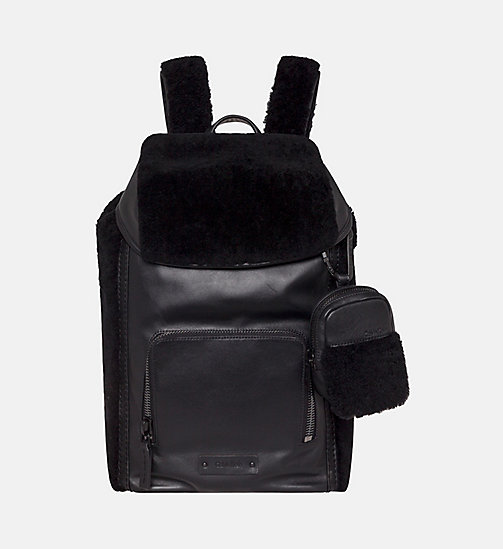CALVINKLEIN 48 Hour Leather Backpack - BLACK - CALVIN KLEIN CARRIED AWAY - main image