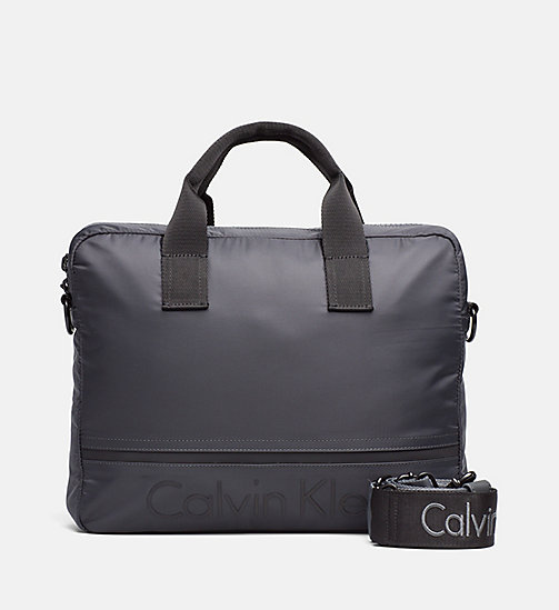 CALVINKLEIN Nylon Laptop Bag - DARK SHADOW - CALVIN KLEIN SHOES & ACCESSORIES - main image