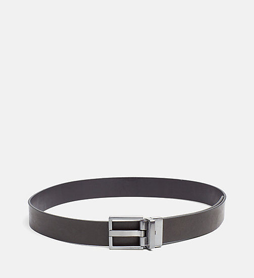 CALVINKLEIN Reversible Leather Belt - BLACK/BROWN - CALVIN KLEIN BELTS - main image