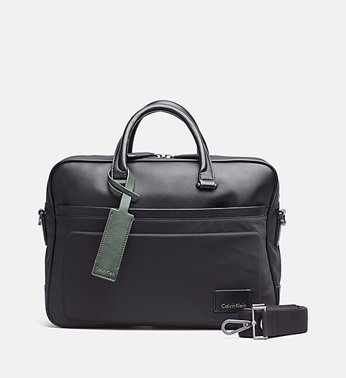 Nylon Laptop Bag - BLACK - CALVIN KLEIN SHOES & ACCESSORIES - main image