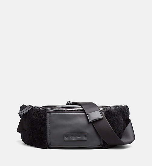 Leather Waist Bag - BLACK - CALVIN KLEIN SHOES & ACCESSORIES - main image