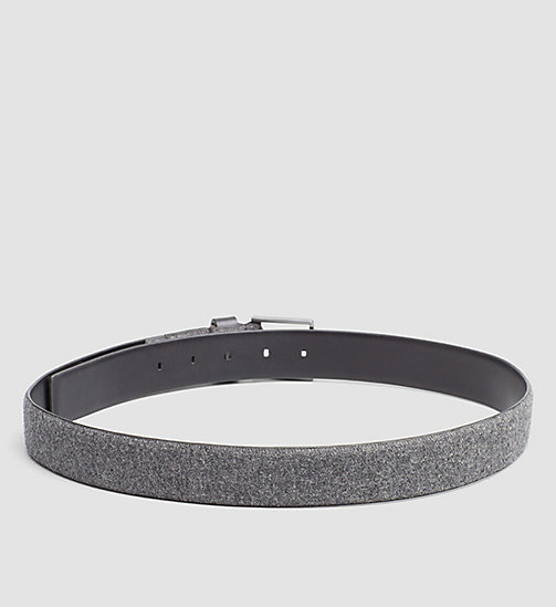 CALVINKLEIN Leather Felt Belt - DARK SHADOW - CALVIN KLEIN BELTS - detail image 1