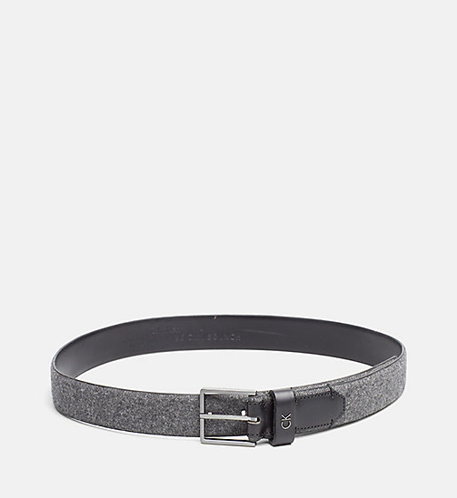 CALVINKLEIN Leather Felt Belt - DARK SHADOW - CALVIN KLEIN BELTS - main image