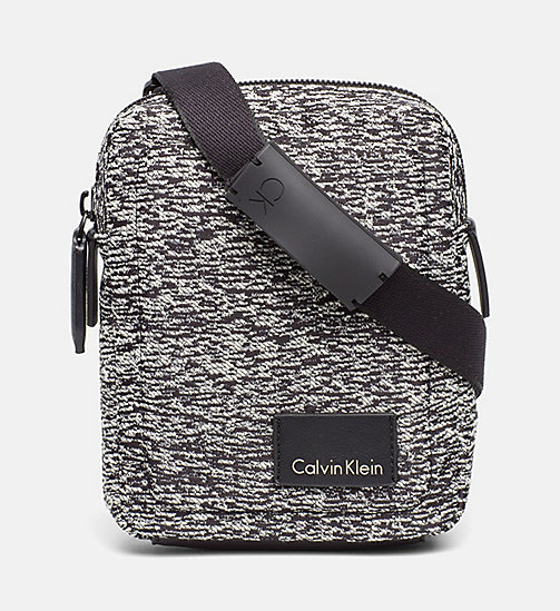 CALVINKLEIN Jacquard Mini Reporter Bag - BLACK/DUSTY IVORY - CALVIN KLEIN SHOES & ACCESSORIES - main image