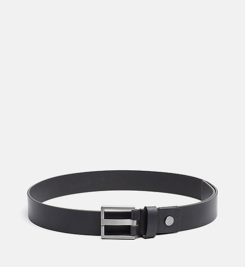 CALVINKLEIN Leather Belt - BLACK - CALVIN KLEIN BELTS - main image