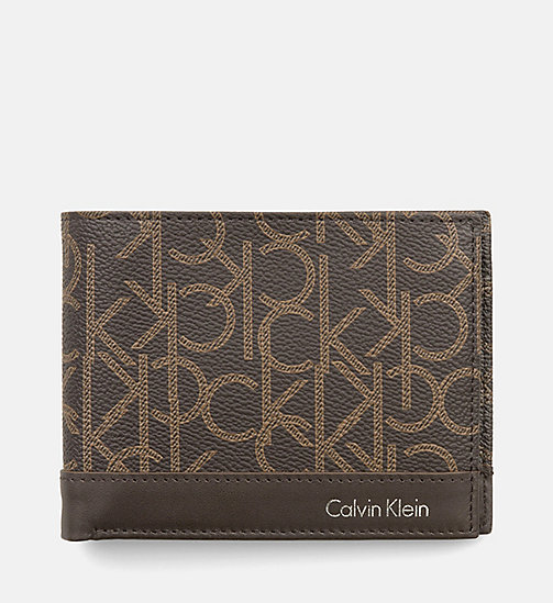 CALVINKLEIN Leather Logo Wallet - BROWN MONOGRAM - CALVIN KLEIN WALLETS - main image