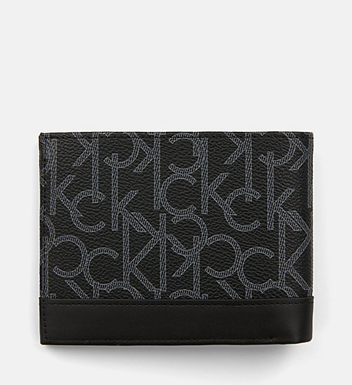 CALVINKLEIN Leather Logo Wallet - BLACK MONOGRAM - CALVIN KLEIN SHOES & ACCESSORIES - detail image 1