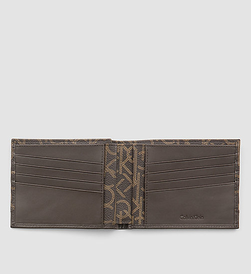 CALVINKLEIN Leather Logo Wallet - BROWN MONOGRAM - CALVIN KLEIN SHOES & ACCESSORIES - detail image 1