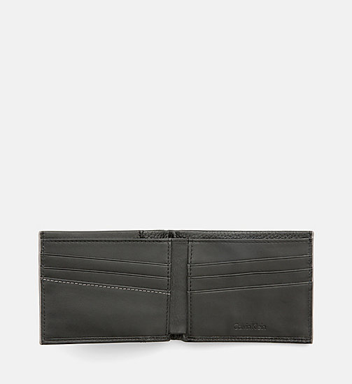 CALVINKLEIN Leather Slimfold Wallet - BLACK - CALVIN KLEIN SHOES & ACCESSORIES - detail image 1