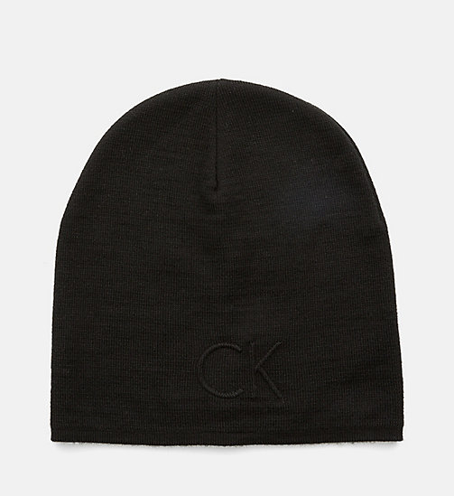 CALVINKLEIN Wool Blend Hat - BLACK - CALVIN KLEIN HATS - main image