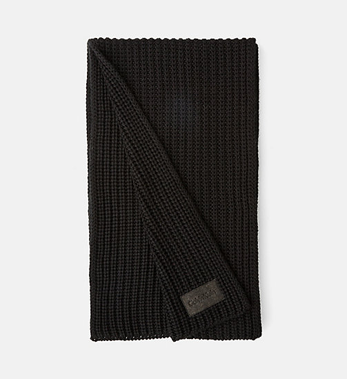 CALVINKLEIN Knit Scarf - BLACK - CALVIN KLEIN ACCESSORIES - main image