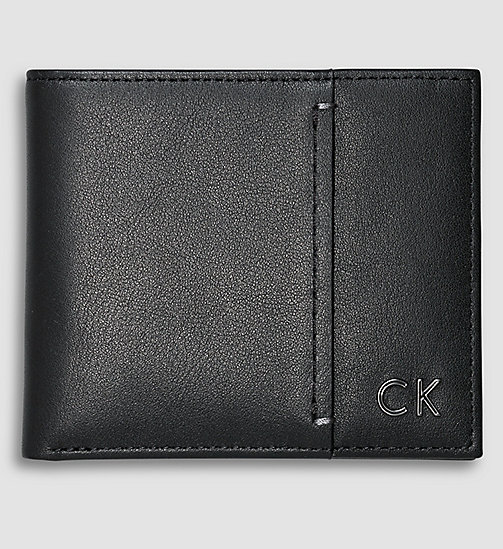 CALVINKLEIN Leather Slimfold Wallet - BLACK - CALVIN KLEIN WALLETS - main image