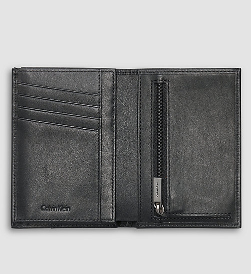 CALVINKLEIN Leather Bifold Wallet - BLACK - CALVIN KLEIN WALLETS - detail image 1